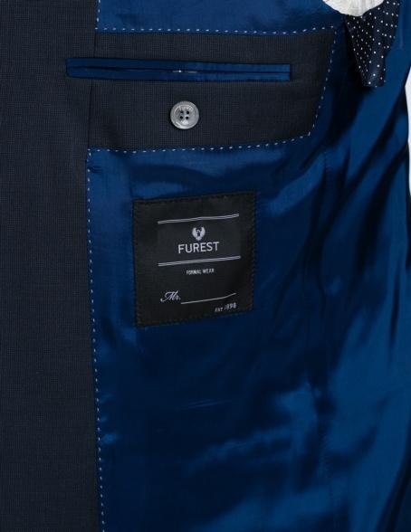 Traje liso SLIM FIT, tejido GUABELLO, color azul marino, 100% Lana fría. - Ítem1