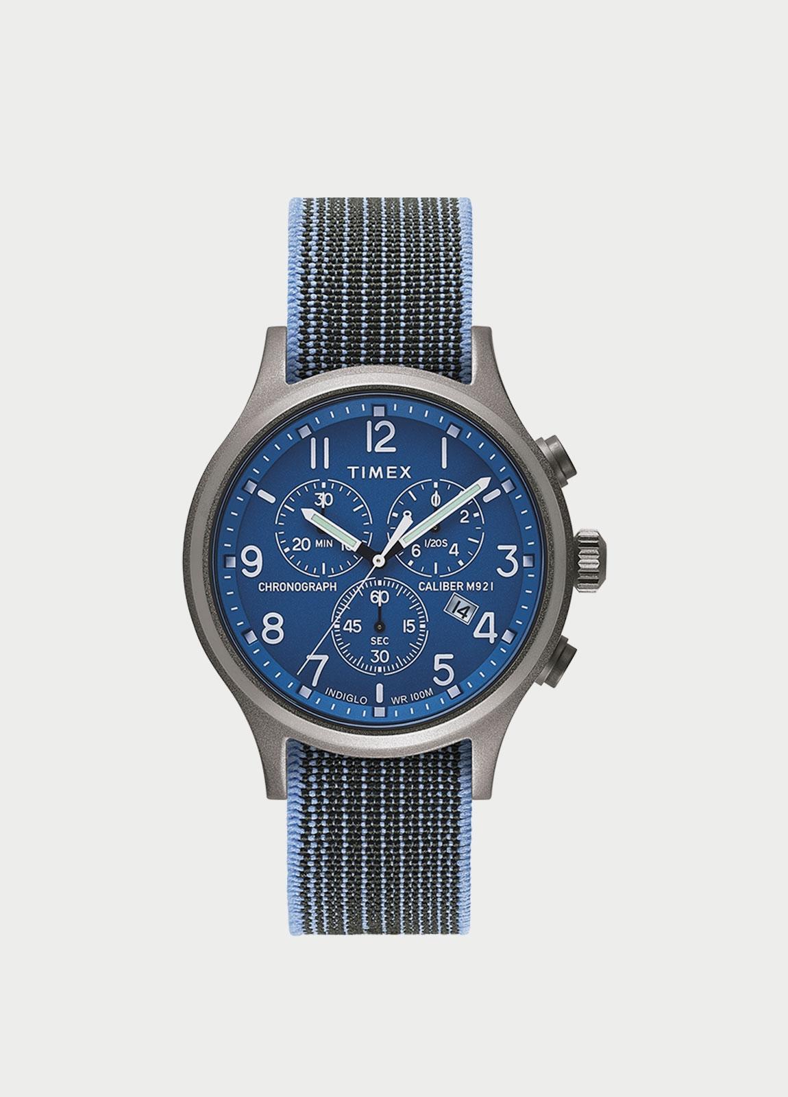 Caja Reloj Timex azul. (La correa se vende por separado).