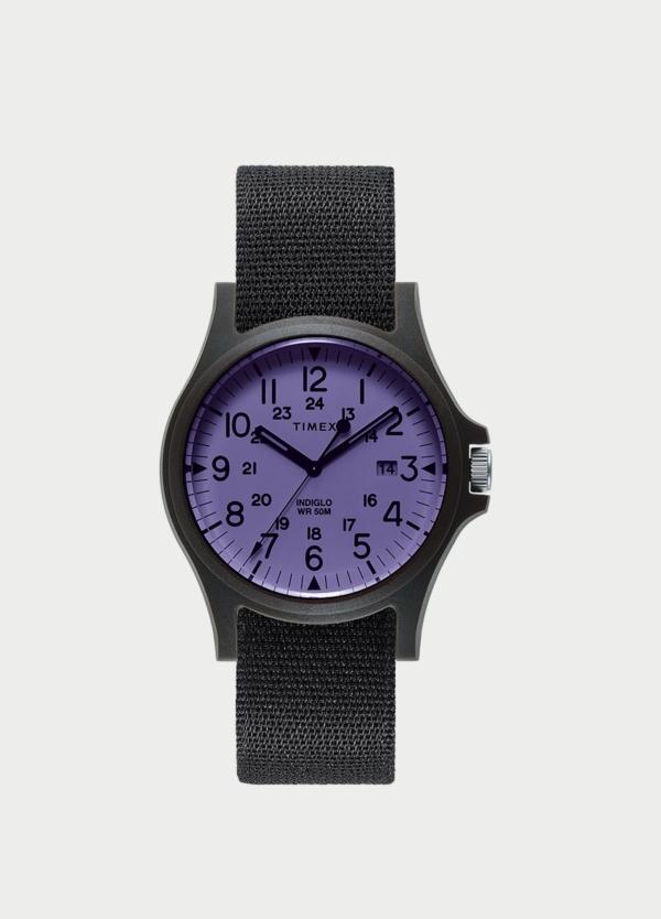 Caja Reloj Timex morado. (La correa se vende por separado).