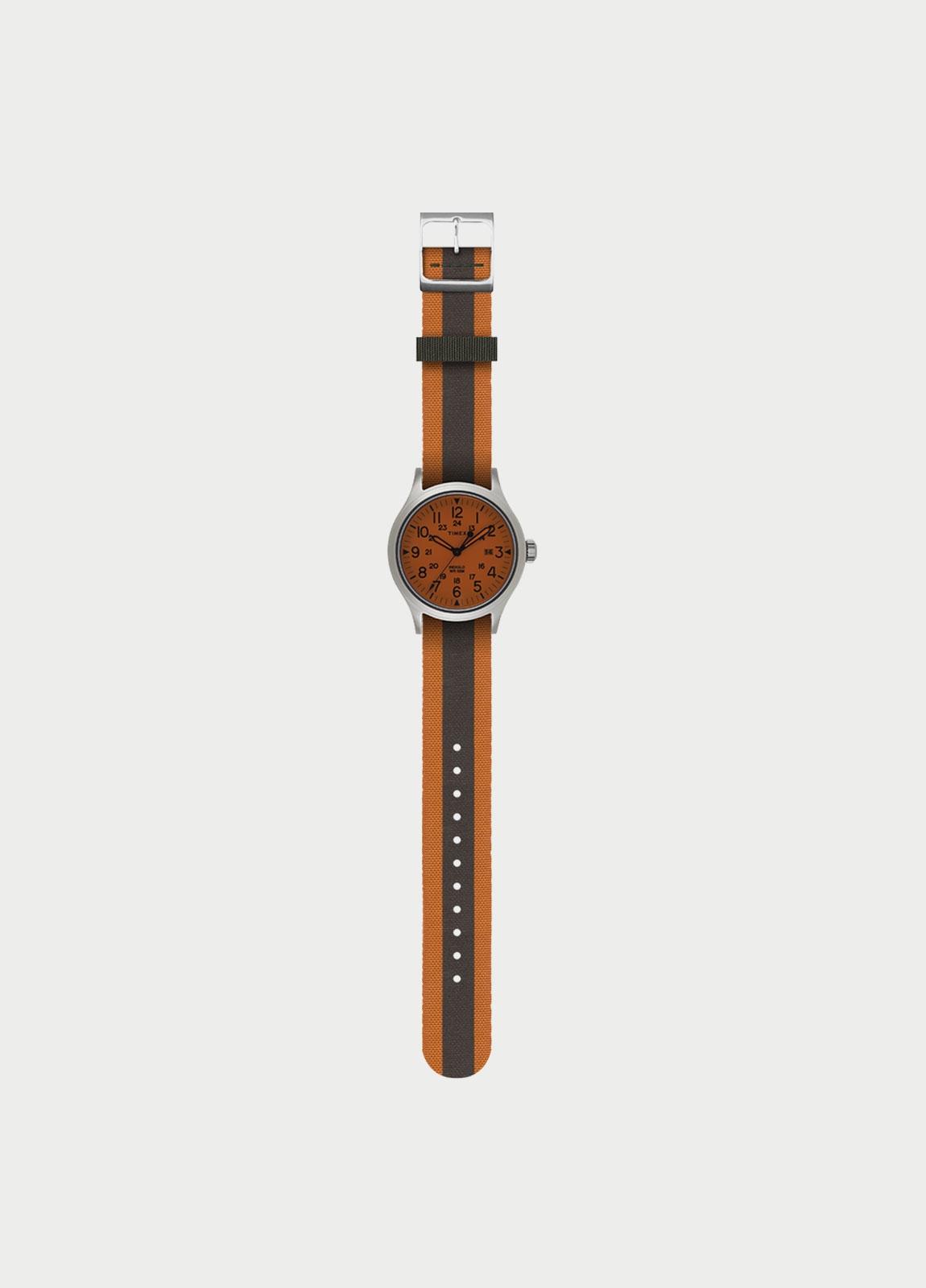 Correa Reloj TIMEX reversible naranja/ kaki (la caja reloj se vende por separado)