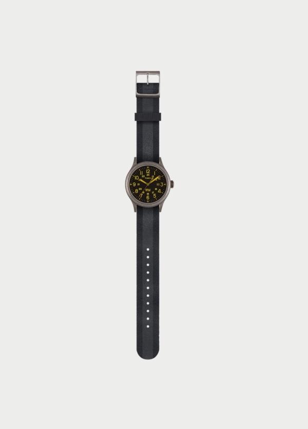 Correa Reloj TIMEX reversible negro/negro. (la caja reloj se vende por separado)