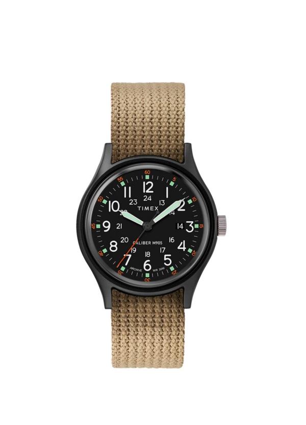 Reloj Timex marrón.