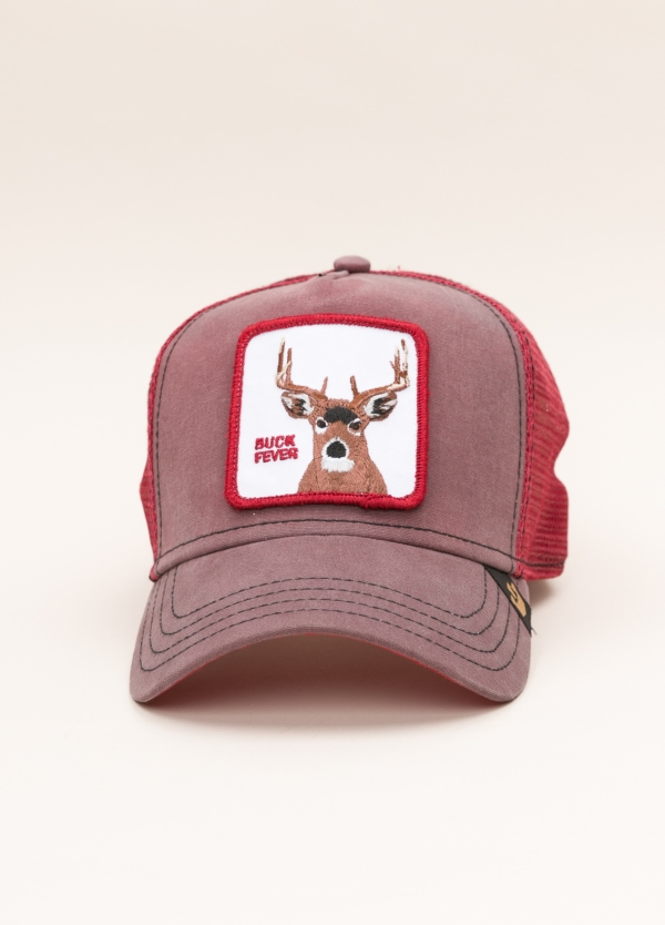 Gorra Trucker GOORIN BROS rojo dibujo ciervo
