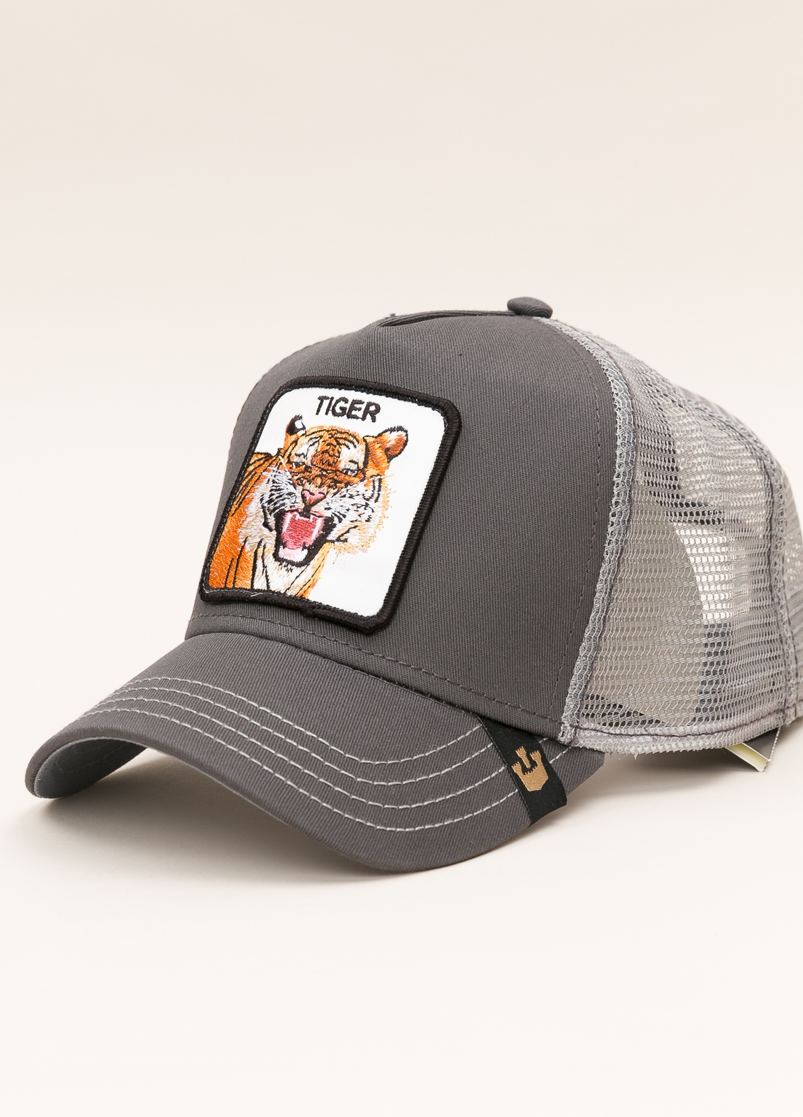 Gorra Trucker GOORIN BROS gris dibujo tigre - Ítem1
