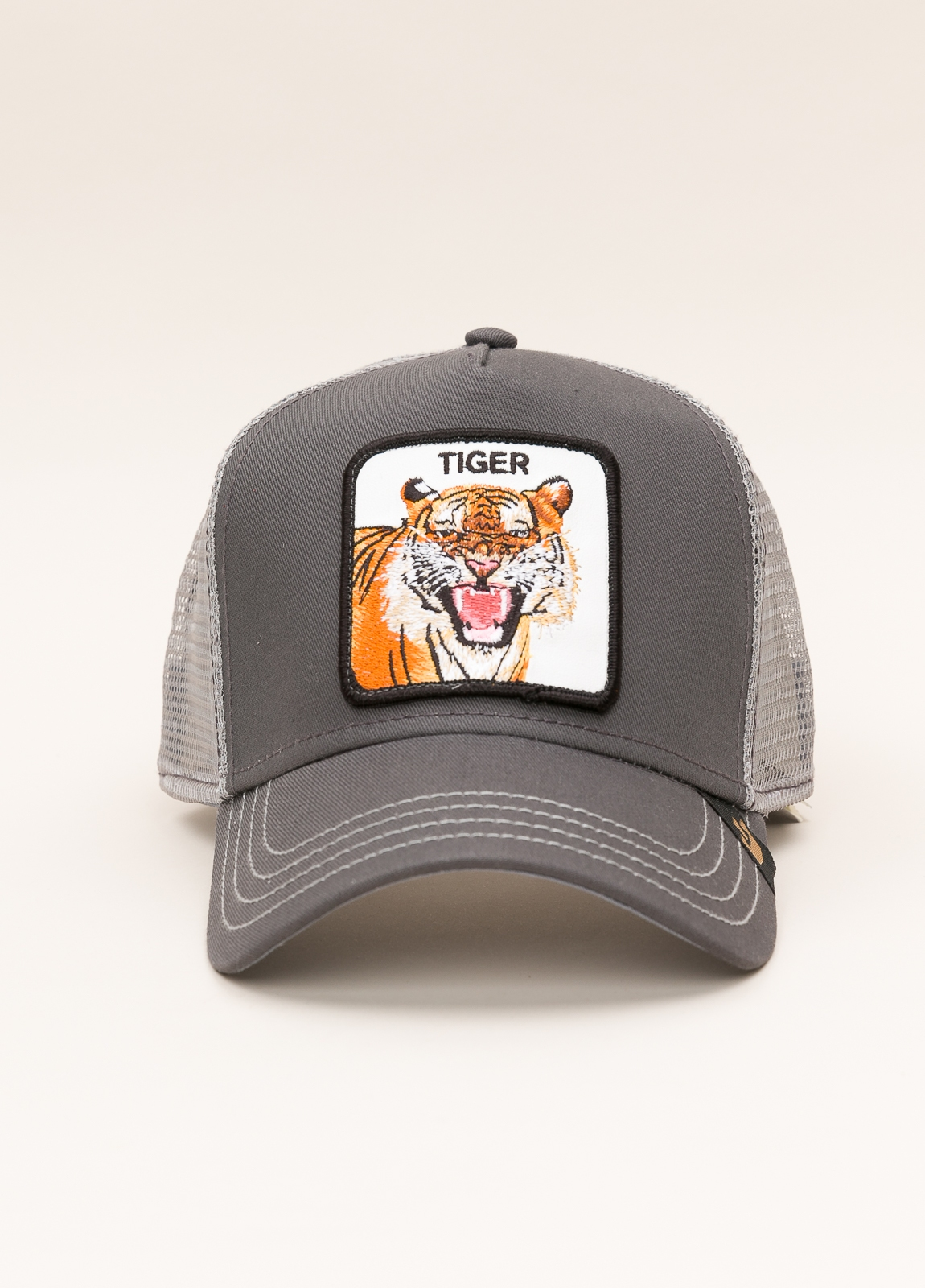 Gorra Trucker GOORIN BROS gris dibujo tigre