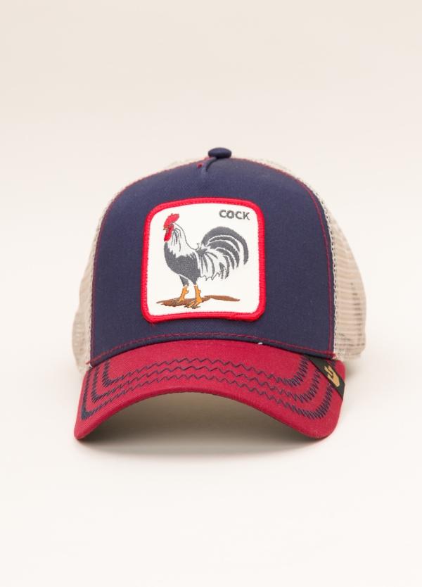 Gorra Trucker GOORIN BROS rojo dibujo gallo