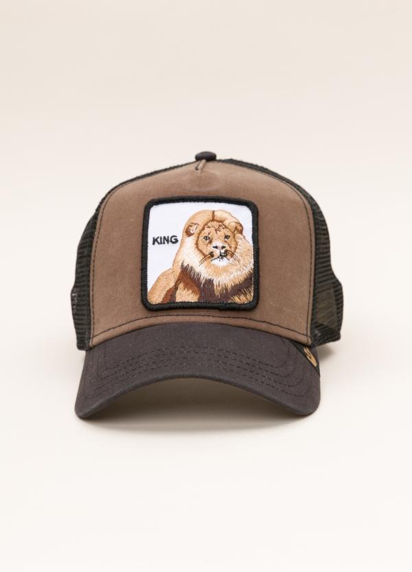 Gorra Trucker GOORIN BROS marrón dibujo leon