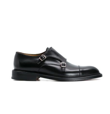Zapato Formal Wear con hebillas color negro, 100% Piel lisa.
