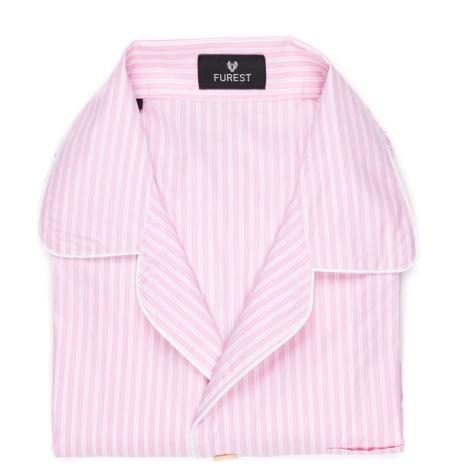 Pijama largo dos piezas, pantalón largo con cinta no elástica y funda incluida, 100% Algodón.