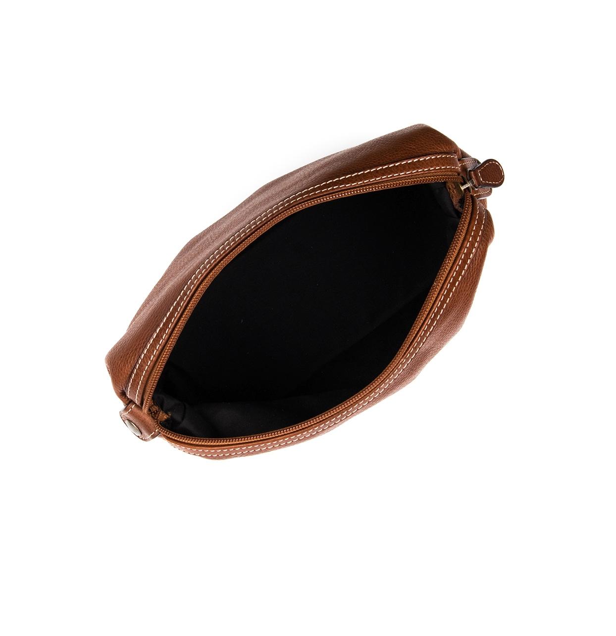 Neceser de piel color marrón, modelo TRAVIATA - Ítem1