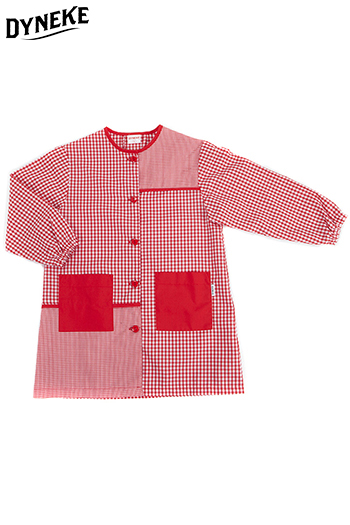 Bata infantil cuadro rojo