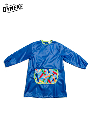 Bata manualidades azul