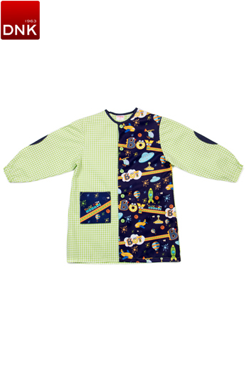 Space Button School Smock