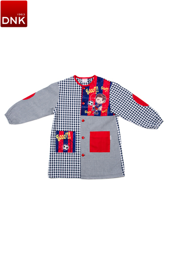Blue Team Button School Smock