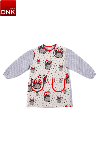 Cat amd Mouse Button School Smock