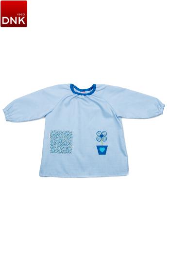 Blue Flower pot Preschool Smock