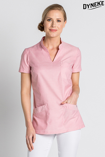 Health service rose tunic Mao collar
