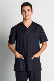 Navy Blue Men Tunic Health