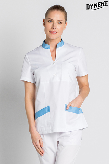 White scrub tunic