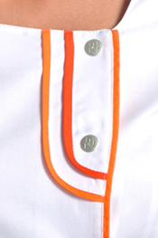 Tunic 2 orange tafeta straps contrast