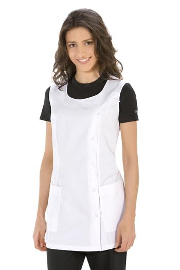 White stylist vest