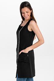 Black sleveless tunic