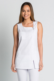 Jumper dress white zipper