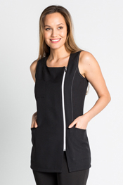 Jumper dress black zipper