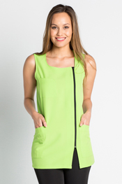 Jumper dress pistachio zipper