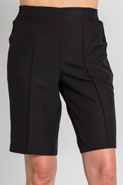 Women's black shorts.