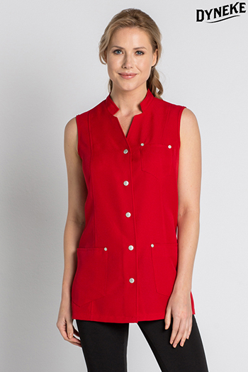 Red tunic with mao collar