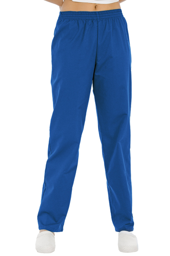 Aqua blue classic fit pants