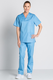 Sky blue scrub tunic