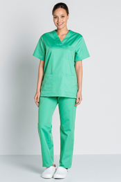 Green scrub tunic