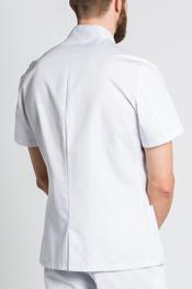 Chaqueta básica hombre m/c blanca