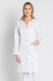 Long white coat highlights