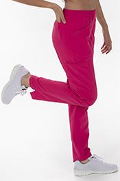 Pantalón unisex microfibra textura fucsia