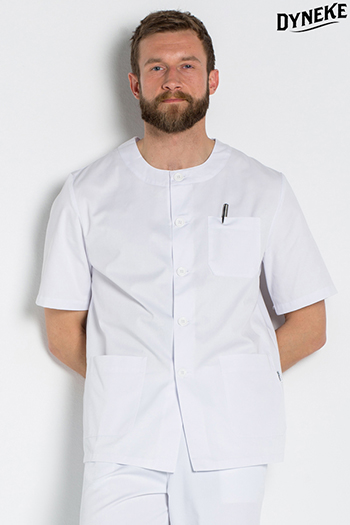 ** White tunic rounded neckline