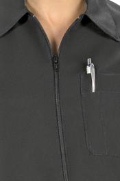 Black tunic long sleeve zipper