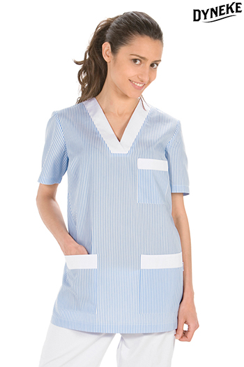 Service tunic with light blue striped