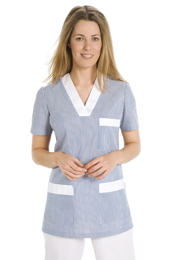Service tunic with blue striped