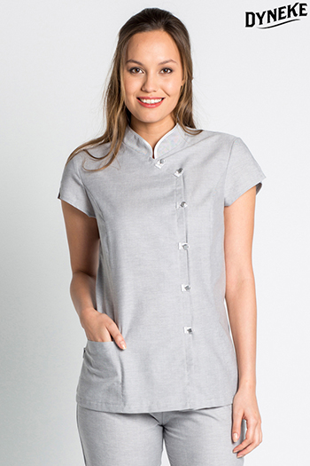 Short tunic Mao collar