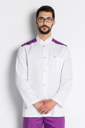 Chaqueta caballero hombros lila