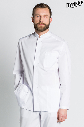 Mens white tunic long sleeve