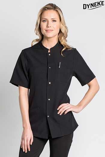 Black thin strip tunic short sleeve unisex