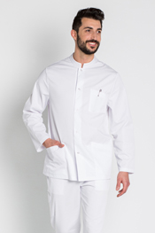 White thin strip tunic long sleeve unisex