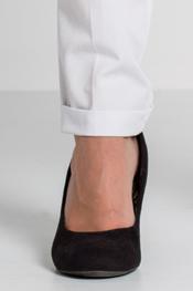 Pantalón blanco dobladillo