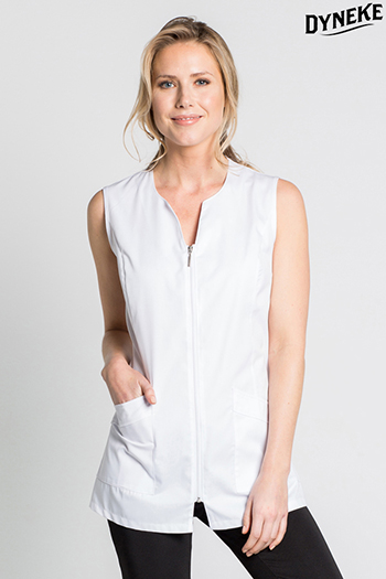 Tunic white simple sleveless 'low cost'