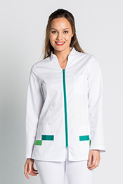 Chef's jacket with oxi buttons.