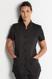 Black basic jacket short sleeve